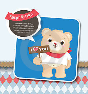 Teddy Bear Greeting Card Stock Photography - Image: 23849412