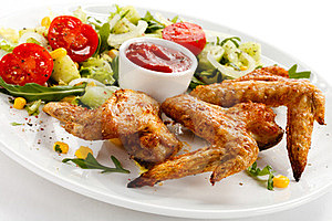 Roasted Chicken Wings Stock Photography - Image: 23852452