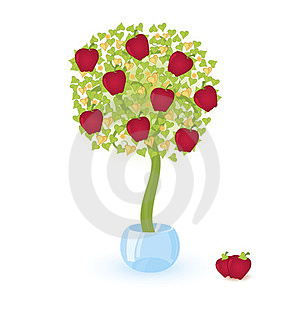 Tree With Red Apples Royalty Free Stock Photos - Image: 23852718