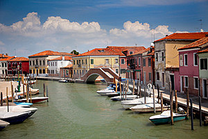 Canal With Colorful Houses / Italy / Nobody Stock Photography - Image: 23858872