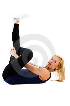 Floor Crunches Stock Photo - Image: 23861330
