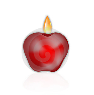 Apple Birthday Candle Stock Photography - Image: 23864242