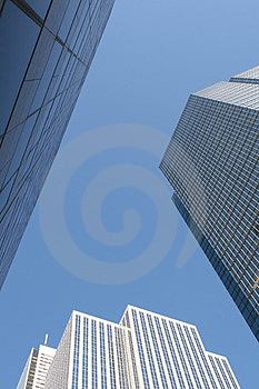 Skyscrapers-office Building In Downtown Toronto Stock Images - Image: 23864404