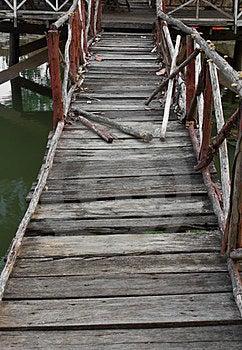 Old Wooden Bridge. Stock Images - Image: 23865124