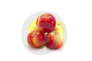 Five Apples Isolated Stock Image - Image: 23868481