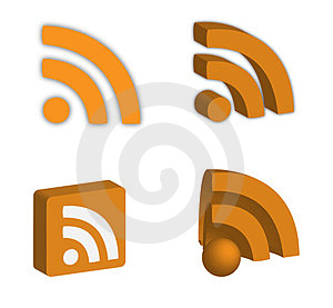 3d Rss Icons Royalty Free Stock Image - Image: 23868506