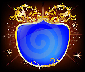 Elegant Shield Blue Background Royalty Free Stock Image - Image: 23868526