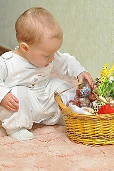 The Kid With A Basket Stock Photos - Image: 23868563