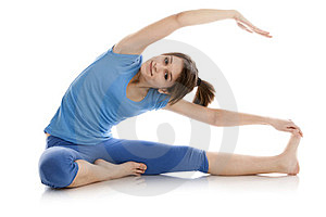 Image Of A Girl Practicing Yoga Royalty Free Stock Image - Image: 23869476