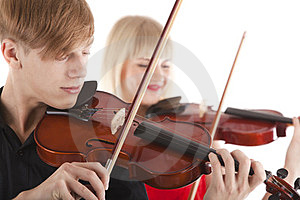 Image Of Musicians Playing Violins Royalty Free Stock Image - Image: 23869596