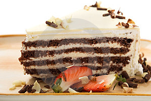 Cake With White Chocolate Stock Images - Image: 23872294