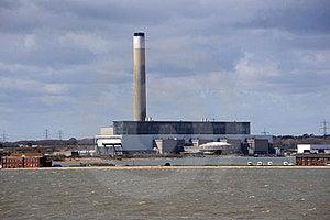 A Coastal Power Station Royalty Free Stock Photo - Image: 23874015