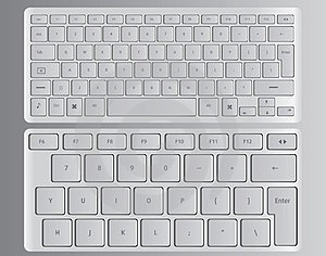 Vector Keyboards White Royalty Free Stock Photography - Image: 23875197