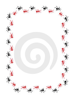 Ants Border Royalty Free Stock Photos - Image: 23880698