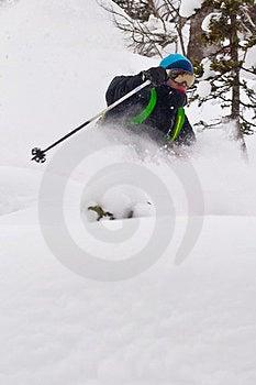 Freerider Skiing In Siberia Stock Photography - Image: 23880942