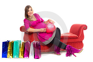 Pregnant Women In Pink Color Dresses Stock Photos - Image: 23883663
