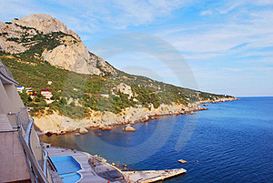 The Morning Sea Of Mountains. View From The Hotel. Royalty Free Stock Images - Image: 23886399