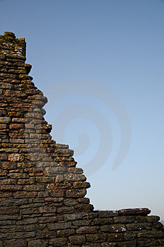 Broken Stonewall Royalty Free Stock Photography - Image: 23887347