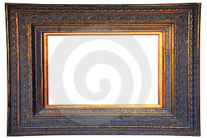 Vintage Gold Wood Frame Royalty Free Stock Photo - Image: 23896425