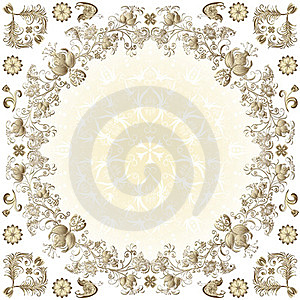 Gold Easter Round Frame Royalty Free Stock Photo - Image: 23897315