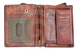 Old Leather Purse Royalty Free Stock Image - Image: 23897616
