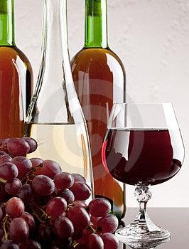 Wijn En Druif Royalty-vrije Stock Foto - Afbeelding: 23898395
