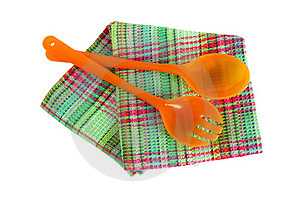 Spoons And Kitchen Towel Stock Photos - Image: 23899483