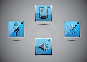 Vector Icon Set Color Stock Images - Image: 23899804