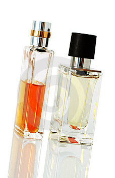 Elegant perfume bottles Royalty Free Stock Images
