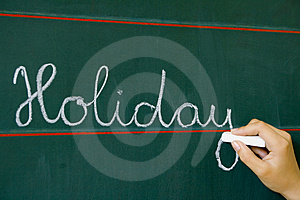 On Table Word Holiday Royalty Free Stock Image - Image: 2396196
