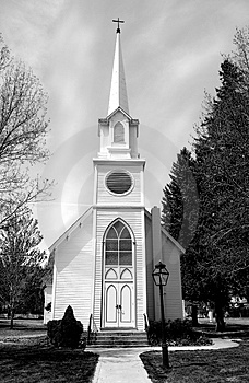 Stock Image - Church with steeple