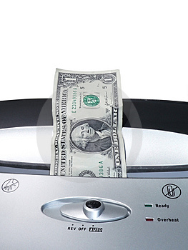 Dollar Bill Shredding 2 Stock Images - Image: 2399734