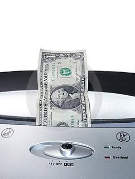 Banconota In Dollari Che Tagliuzza 2 Immagini Stock - Immagine: 2399734