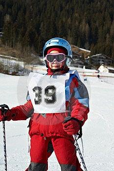 Child In The Ski Resort Royalty Free Stock Photos - Image: 23901858