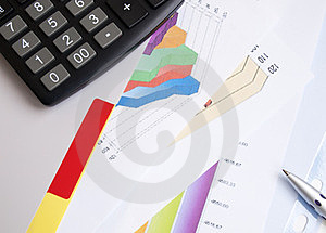 Business Graph Documents Royalty Free Stock Photography - Image: 23910237