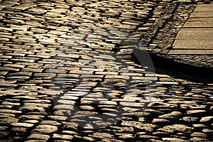 Wet Cobblestones Royalty Free Stock Photos - Image: 23923038