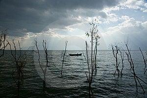 A Fisherman On Lake Royalty Free Stock Photos - Image: 23925388