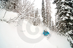 Freeride In Siberia Royalty Free Stock Photography - Image: 23927057