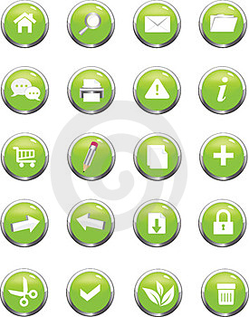 Web Navigation Icon Royalty Free Stock Photo - Image: 23929235