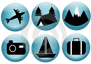 Travel And Tourism Icon Set Stock Photos - Image: 23929773