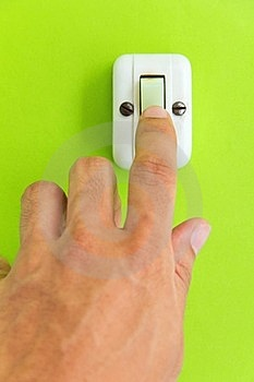 Turn Off The Light Royalty Free Stock Photo - Image: 23929845