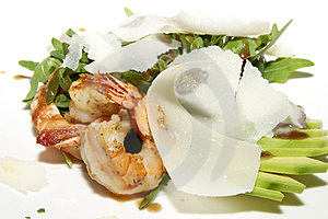 Salad Greens And Shrimp Royalty Free Stock Images - Image: 23931479