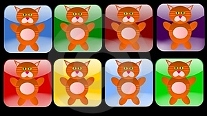 Cat Icons Royalty Free Stock Image - Image: 23933776