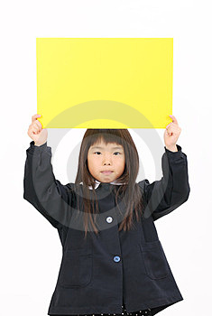 Little Asian Schoolgirl Royalty Free Stock Image - Image: 23942376