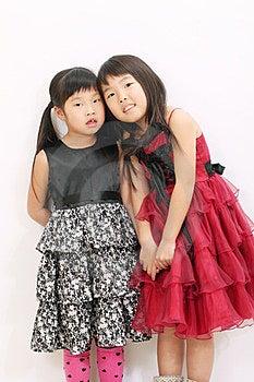 Two Asian Girls Royalty Free Stock Image - Image: 23943096