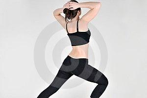 Sports Girl Doing Exercises Stock Photo - Image: 23947790