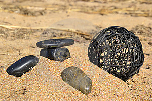 Stones By The Sea Royalty Free Stock Images - Image: 23950309