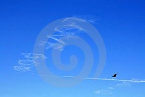 The Writing In The Sky Stock Photos - Image: 23951323