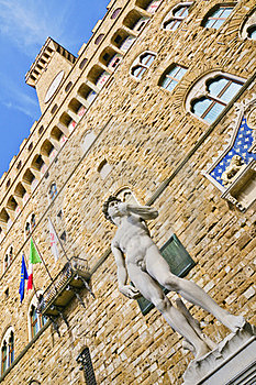David And Palazzo Vecchio (Florence) Royalty Free Stock Photography - Image: 23957187