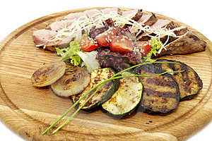 Grilled Vegetables And Meats Stock Photos - Image: 23960883